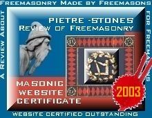 Outstanding Masonic Website Certificate